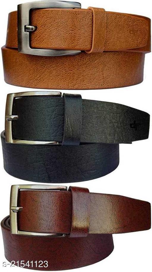 Trendy Men's Pack of 3 Multicolor Belt