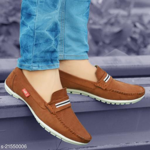 Attractive Men's Beige Loafers