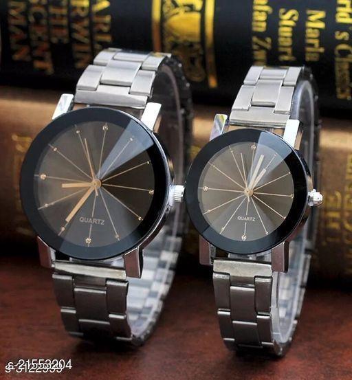 Elegent Analog couple wrist watches combo