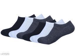Unisex Cotton Lycra Socks (Pack Of 6)