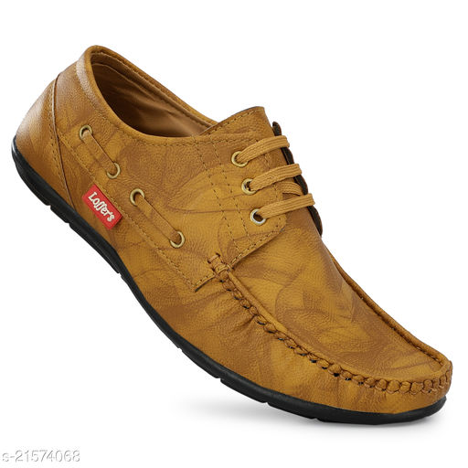 Stylish Men's Synthetic Brown Casual Shoes