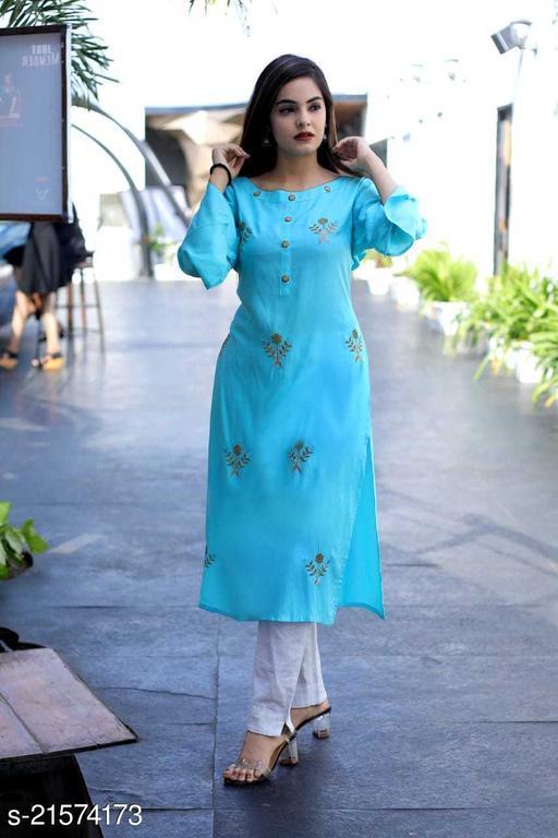 Rajasthani fashion TRADITIONAL RAYON EMBROIDERED KURTI Maha Price Drop Sale