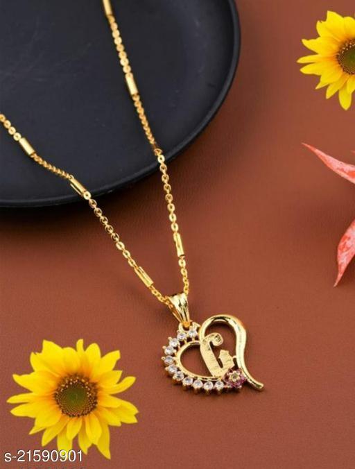 Alphabet (G) Pendant Gold Plated Mangalsutra Women