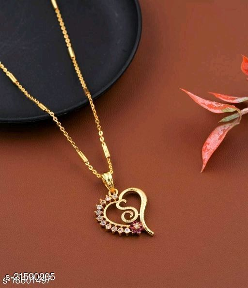 Alphabet (S) Pendant Gold Plated Mangalsutra Women