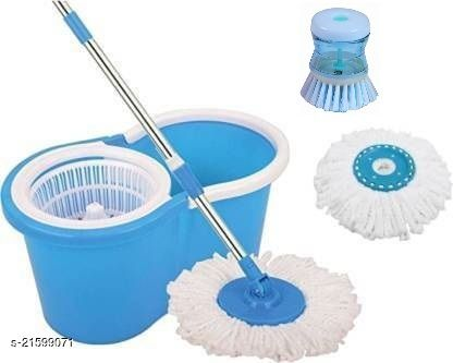 Best Quality Bucket Mop set with 1 Liquid Dishwasher or Brush Refill 2