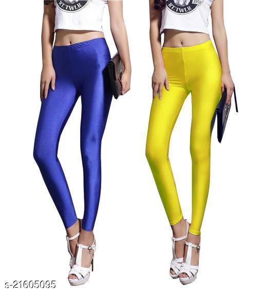 Skiny fit Satin Shiny Legging for women Pack of 2