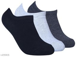 Unisex Cotton Lycra Unisex Socks (Pack Of 3)