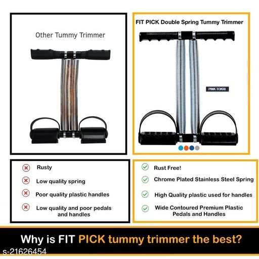 Double Spring Tummy Trimmer Pro Waist Trimmer Abs Exerciser Body Toner Fat Buste