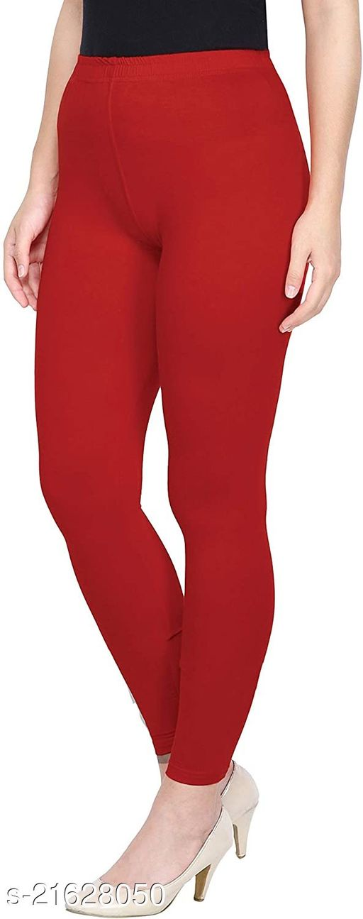 RED ANKLE LENGTH  ROZY COMFORT LEGGINGS