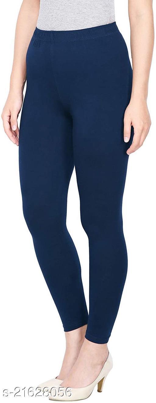NAVY BLUE ANKLE LENGTH ROZY COMFORT LEGGINGS
