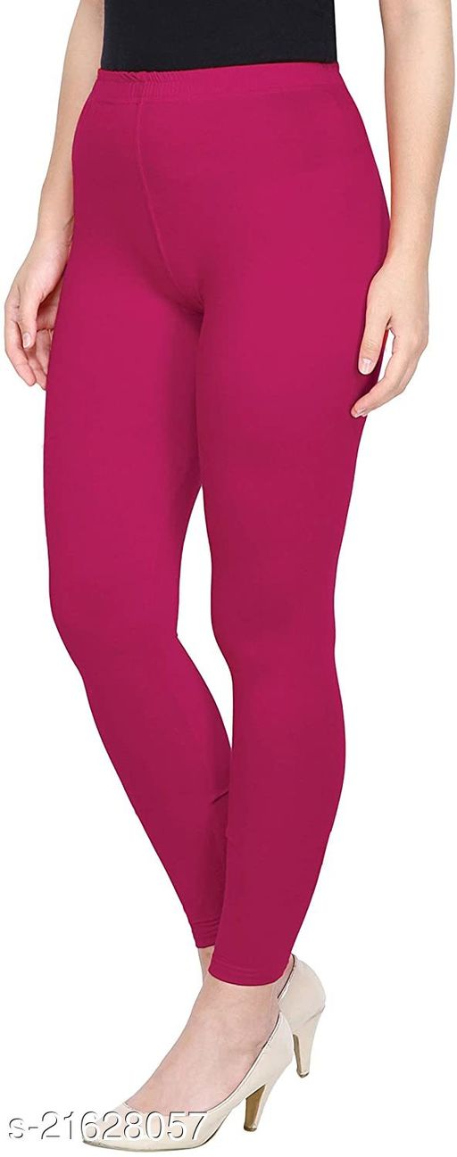 PINK ANKLE LENGTH ROZY COMFORT LEGGINGS