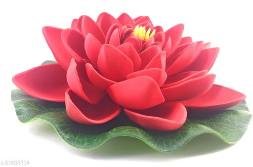 TFH Artificial Floating Lotus For Home Balcony Pool Decoration Red