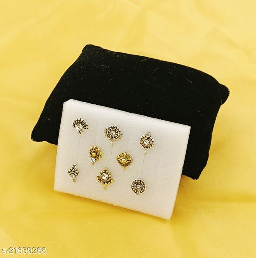 GOLDEN/SILVER OXYDISED NOSEPIN 8 pcs