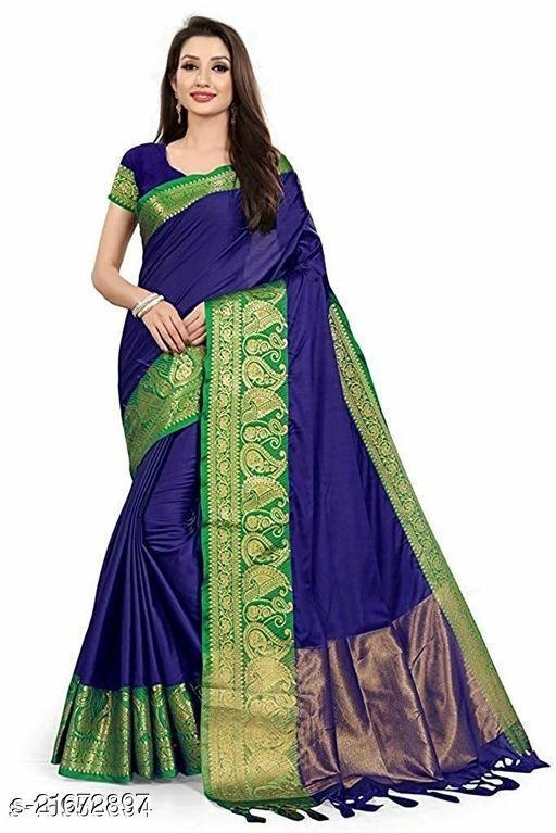 Jacquard Silk Saree With Blouse Piece