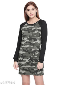 Cult Fiction Olive Dress For Women'S