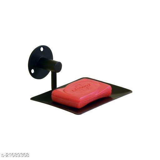 CARLOS Stainless Steel Anti Rust Single Soap Dish-Bathroom Soap Holder, Medium (BLACK PVD)