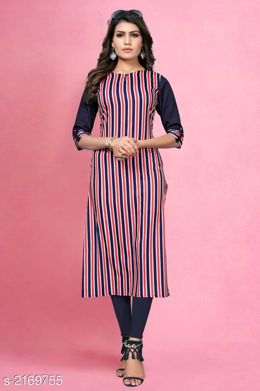 Kurtis & Kurtas Kitsch Heavy American Crepe Kurti  *Fabric* Heavy American Crepe  *Sleeves* Sleeves Are Included  *Size* M- 38 in, L- 40 in, XL - 42 in, XXL- 44 in , 3XL - 46 in  *Length* Up To 46 in To 47 in  *Type* Stitched  *Description* It Has 1 Piece Of Women's Kurti  *Work* Printed  *Sizes Available* M, L, XL, XXL, XXXL   Catalog Rating: ★3.9 (259) Supplier Rating: ★4 (2846) SKU: 801 Shipping charges: Rs49 (Non-refundable) Pkt. Weight Range: 300  Catalog Name: Haasita Kitsch Heavy American Crepe Kurtis Vol 2 - SANDEEP ETHNIC CENTER Code: 992-2169755--