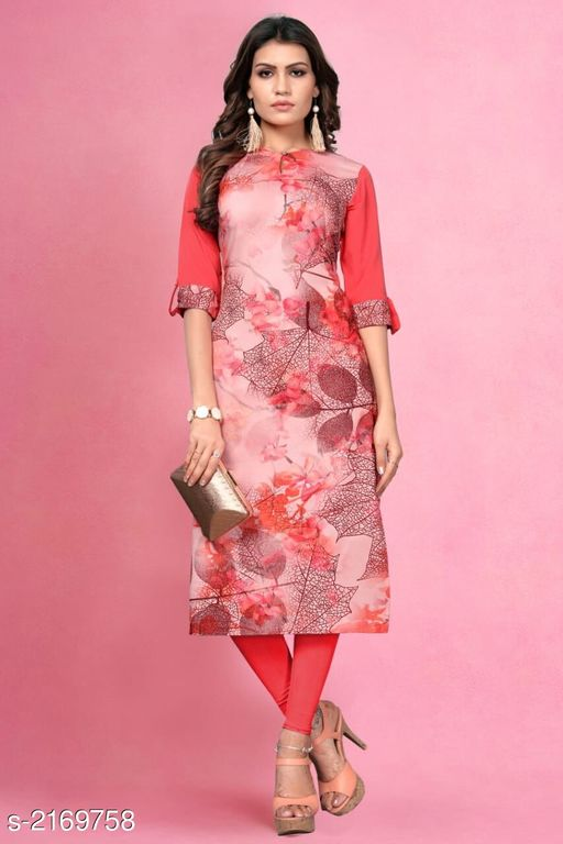Kurtis & Kurtas Kitsch Heavy American Crepe Kurti  *Fabric* Heavy American Crepe  *Sleeves* Sleeves Are Included  *Size* M- 38 in, L- 40 in, XL - 42 in, XXL- 44 in , 3XL - 46 in  *Length* Up To 46 in To 47 in  *Type* Stitched  *Description* It Has 1 Piece Of Women's Kurti  *Work* Printed  *Sizes Available* M, L, XL, XXL, XXXL   Catalog Rating: ★3.9 (259) Supplier Rating: ★4 (2846) SKU: 803 Shipping charges: Rs49 (Non-refundable) Pkt. Weight Range: 300  Catalog Name: Haasita Kitsch Heavy American Crepe Kurtis Vol 2 - SANDEEP ETHNIC CENTER Code: 992-2169758--