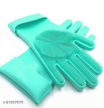 Gloves for Hand Protection for Dish Washing, Car, Pet Care and Grooming, Bathroom Cleaning, Reusable
