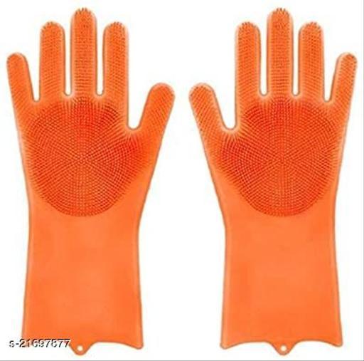 Silicon Scrubbing Hand Gloves