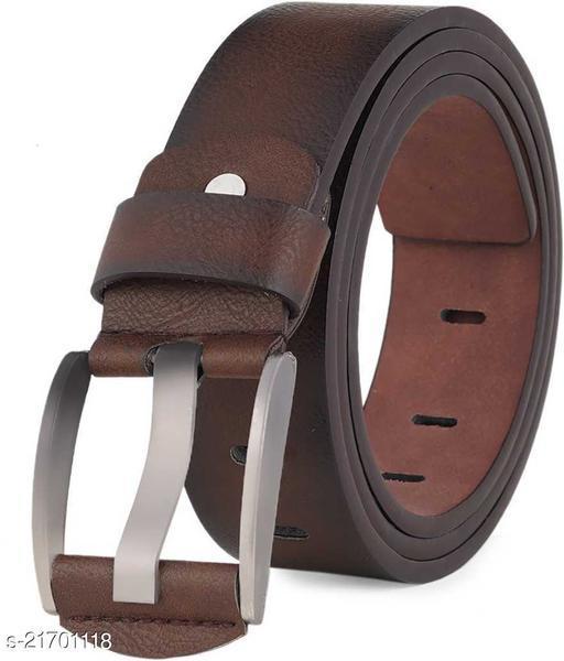 KastnerMen Casual Brown Artificial Leather Belt
