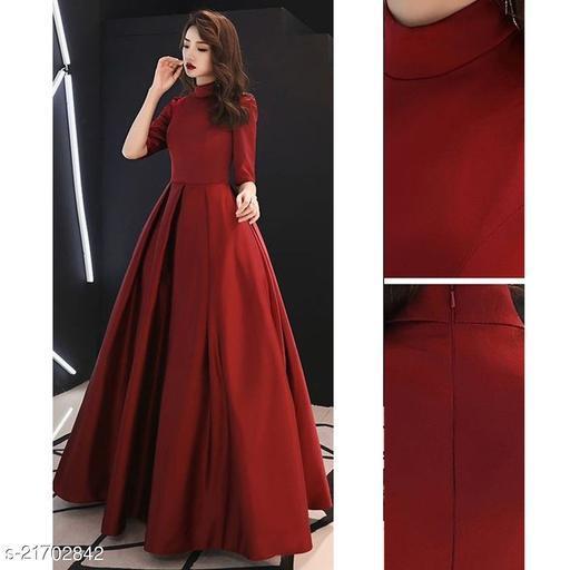 Beautiful Designer Wear Tapeta Silk Long Readymade Gown