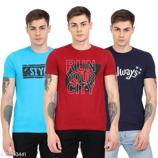Pointer Mens Stylish Printed Cotton Tshirts