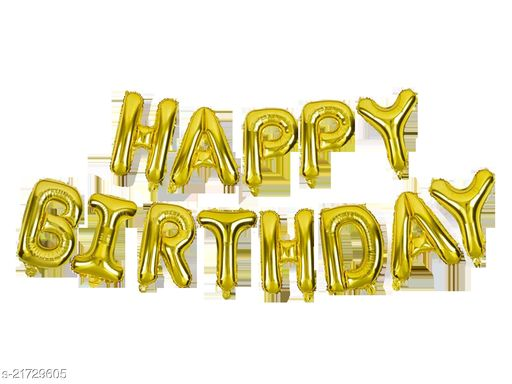 Style Secrets Must Have Premium Quality Foil Balloons for Birthday Party Decoration ( Golden )