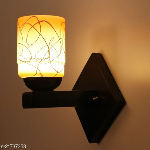 Attractive Colourful LED Sconce Glass Wall Light/ Night Lamp WIth Stylish Wood Fitting, 7 Watt, With All Fixture, Power Saver