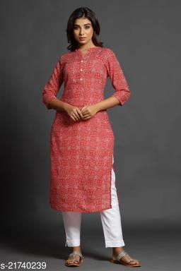 maiyeee women printed straight kurta