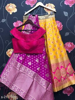 Voguish Designer Banarasi Brocade Lehenga