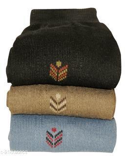 Neska Moda Premium 3 Pair Men's Formal Cotton Mid-Calf Length Office Socks-Black,Grey,Beige