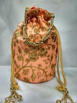 Ethnic Synthetic Cloth Potli Bag