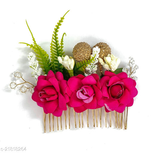 Attractive Women's Pink Hair Clips