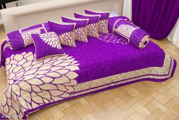 Chenille Best Quality 8 Pcs Diwan Set
