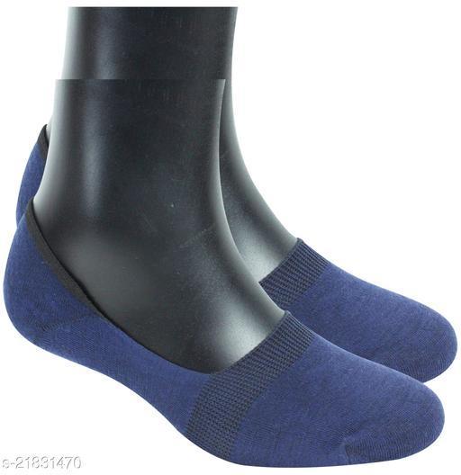 Neska Moda Men & Women 1 Pair Dark Blue No Show Socks -S1268