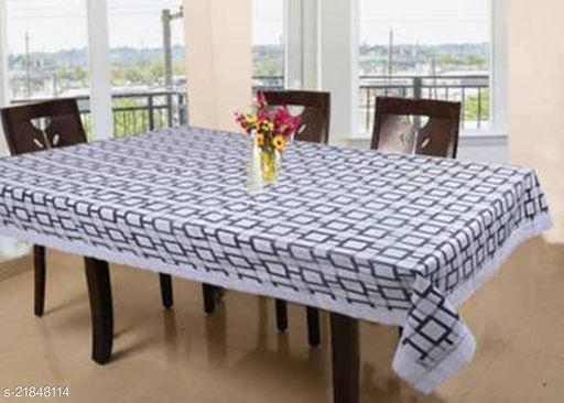PVC Printed 6 Seater Dining Table Cover(Size-54x78)Design-6