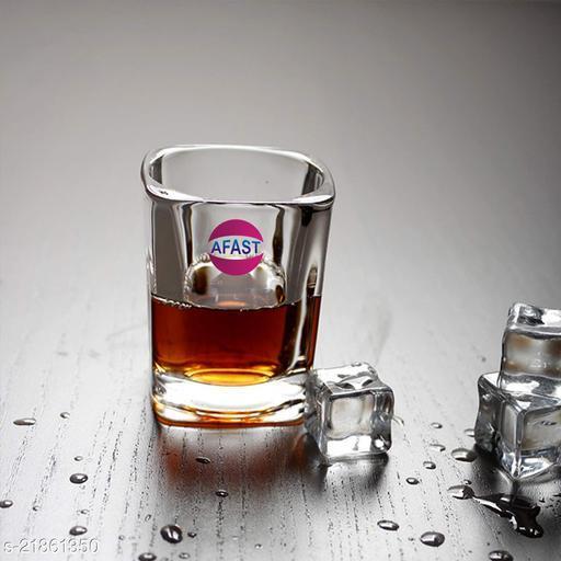 Somil Stylish Funky Shot Glass For Bar & Home, Transparent, 20 ml -KT56