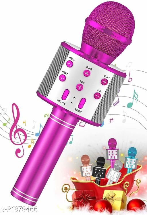 Professional Multi-Function Singing Karaoke Bluetooth Mike advance Portable Audio Kit with Wireless Microphone System and Handheld Speaker Mic for All Smart Devices