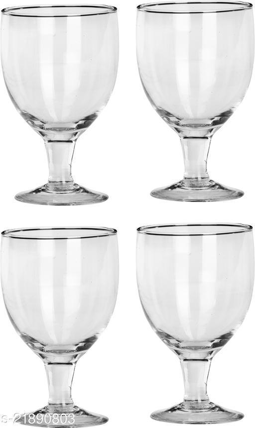 Somil Multipurpose Designer But Transparant Four Glass Set No_2161