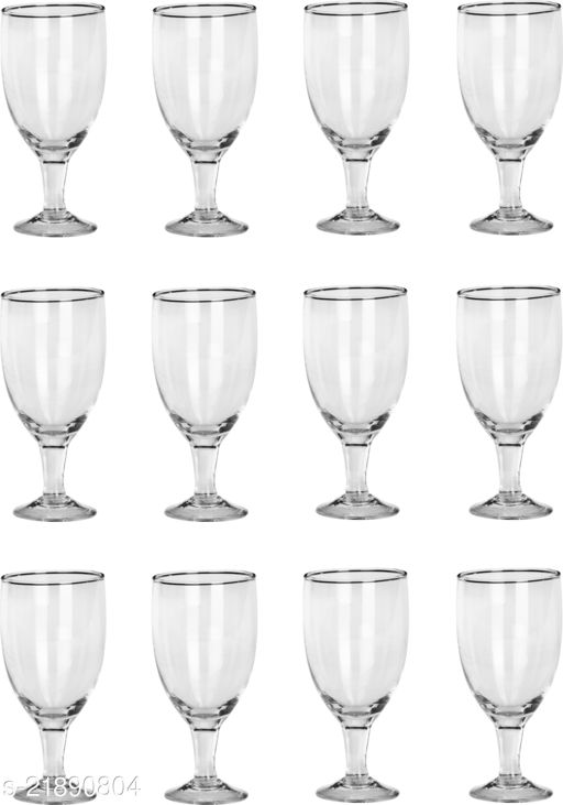 Somil Royal Wine, Cocktail, Champagne Drinking Clear Glass Set- S22