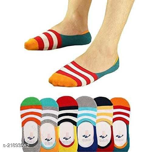 PinKit Pattern Loafer Socks for Men & Women Cotton Solid Peds/Footie/No-Show, Low Cut (Pack of 6 Pairs)