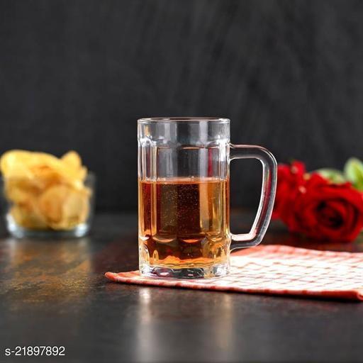 Somil Stylish Designer Beer Mug, Glass, Transparent-S1