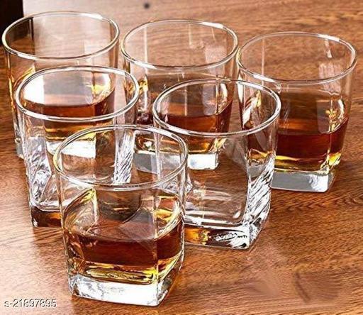 Somil Multi-Purpose Beaver Tumbler Drinking Glass ( Set Of 6)-Rw22