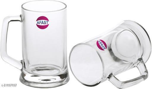 Somil New Bavrage Tumbler Pilsner Glass Beer Mug With Handle Set Of 2-BR09