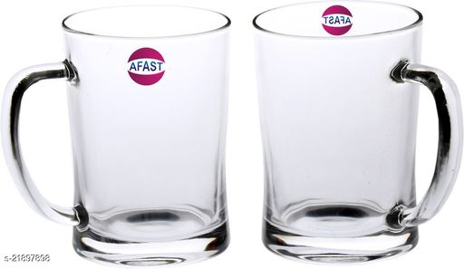 Somil New Bavrage Tumbler Pilsner Glass Beer Mug With Handle Set Of 2-BR07
