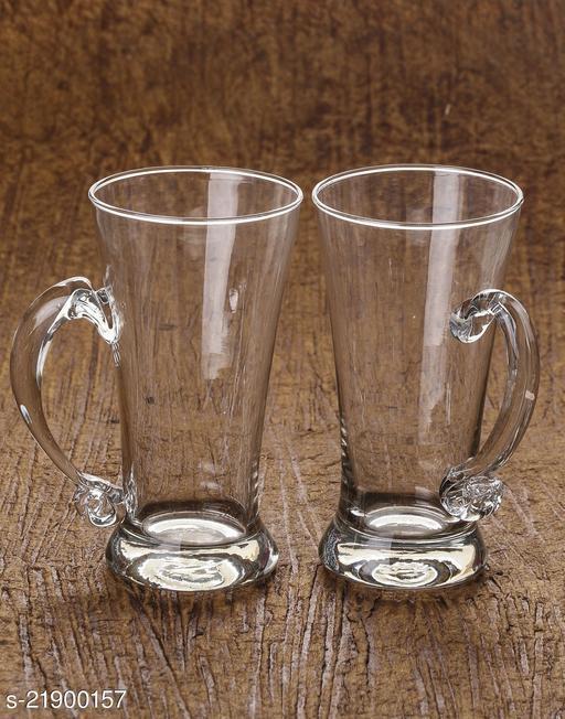 Somil Multipurpose Designer Look Transparant Glass Set Of Four No_SK2