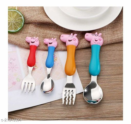 Peppa pig spoon and fork set for kids