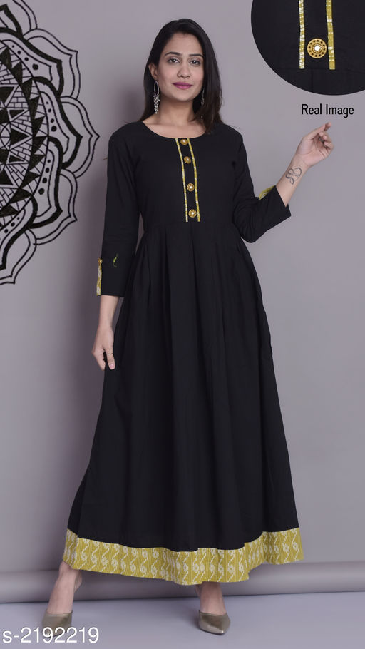 Kurtis & Kurtas Trendy Cotton Long Kurti  *Fabric* Cotton  *Sleeves* Sleeves Are Included  *Size* S- 36 in, M- 38 in, L- 40 in, XL- 42 in , XXL - 44 in  *Length* Up To  54 in  *Type* Stitched  *Description* It Has 1 Piece Of Long Kurti  *Work* Printed  *Sizes Available* S, M, L, XL, XXL *   Catalog Rating: ★4 (1240)  Catalog Name: Dharya Cotton Long Kurtis Vol 4 CatalogID_291238 C74-SC1001 Code: 374-2192219-