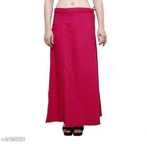 Women Saree Cotton Petticoat-Dark Pink-8 Part(Pack of 1)